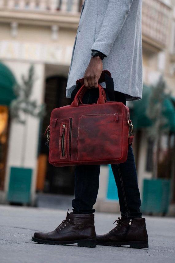 Leather Briefcase Brown Leather Briefcase Men Leather Briefcase Laptop Bag Leather bag Gift for Him Shoulder Bag Men Briefcase