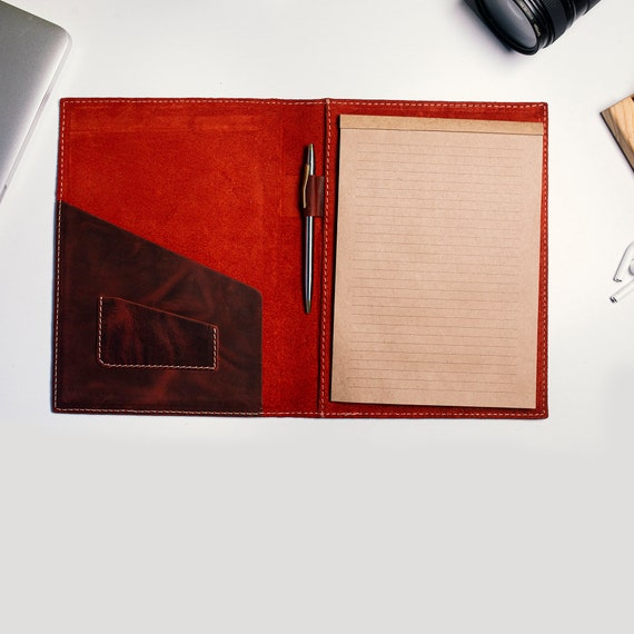 Leather Field Notes Notebook Cover | Minimalist Notebook Wallet | Leather Notebook Case with Card Slots
