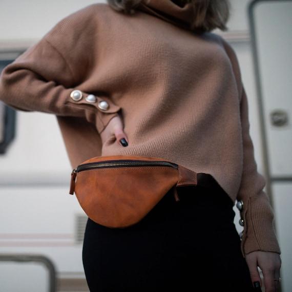 Leather Fannypack, leather bag, belt bag, leather belt bag, hip bag,Leather pouch,gift,present,bag