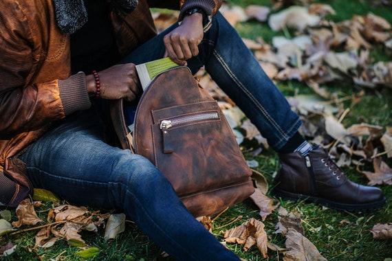 Backpack, Leather Backpack, Retro Metropolitan Fashion, Urban Style, Gift, School Genuine Leather Backpack, Unisex