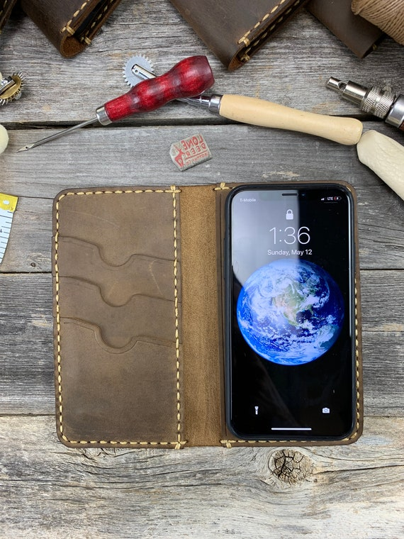 iPhone 11 Case, Leather iPhone 11, Leather Wallet Case, Folio Flip Leather Cover Case, iPhone 11 Leather Phone Holder - TEXAS034
