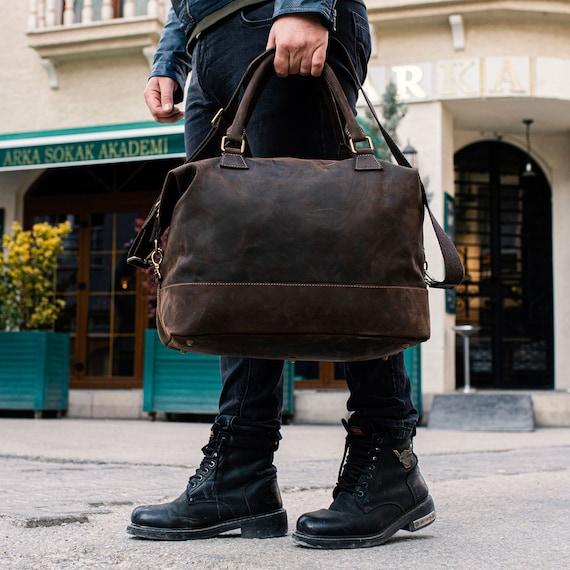 Leather travel bag - Weekender bag leather - travel bag - Leather overnight bag - Leather luggage bag - Duffel bag leather