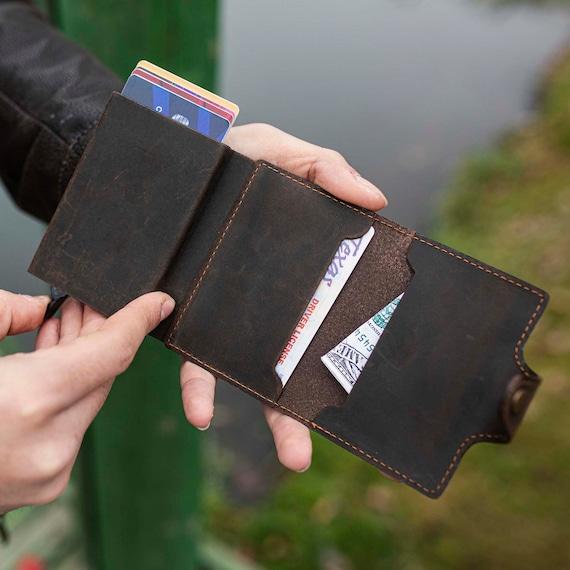 Leather Wallet,Bilfold Wallets,Unisex Bifold Wallet,Minimalist Wallets,Leather CardHolder,Bifold Card Holder-Model