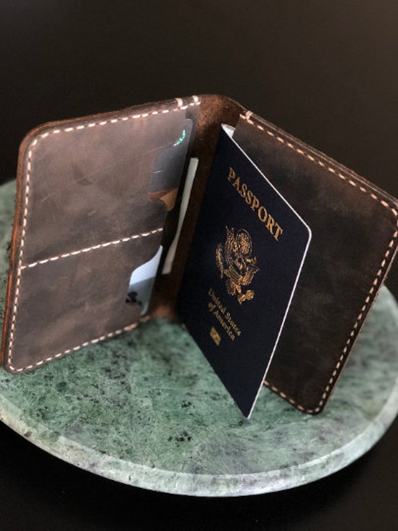 PASSPORT COVER, Leather Travel Wallet, Distressed Leather Passport Wallet, Passport Cover, Passport Case, Retirement Gift #TEXAS006
