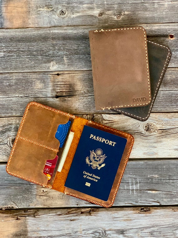 Leather Passport Holder, Leather Travel Wallet, Distressed Leather Passport Wallet, Passport Cover, Passport Case, Retirement Gift #TEXAS030
