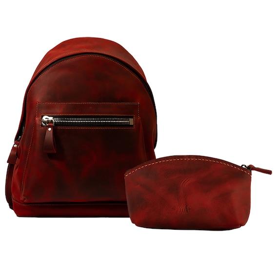Lone Deer Leather backpack + makeup bag