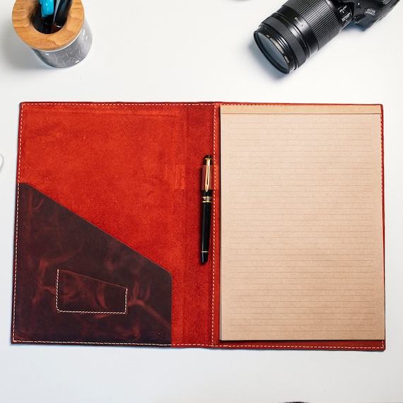 Hand Tooled Leather Journal, Leather Notebook Case, Pretty Journal Case
