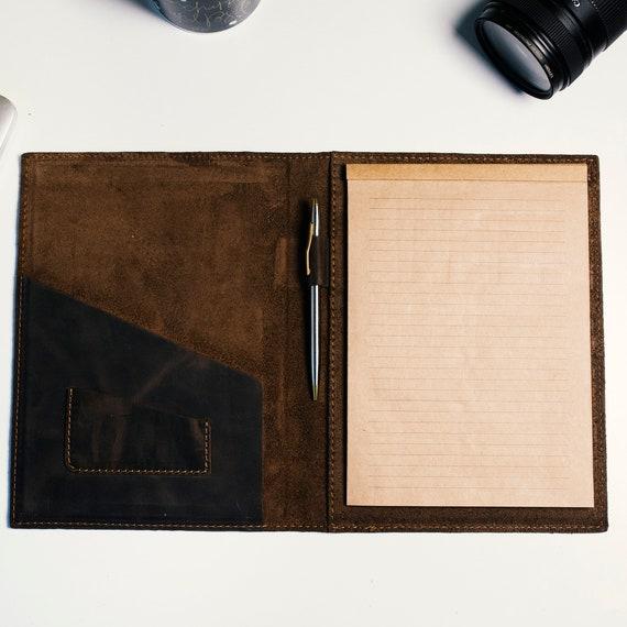 Leather Notebook Cover Leather notebook cover Notebook organizer Journals Cover Leather Organizer Leather Notebook Case Handmade