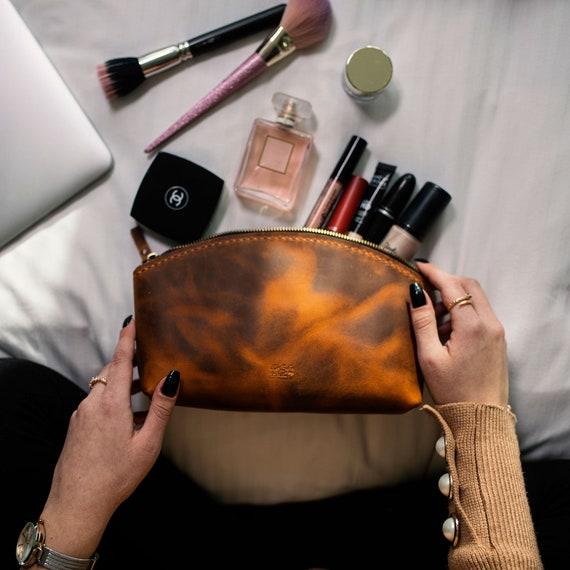Makeup Bag Bridesmaid MakeUp Bag Personalized Makeup Bag Bridesmaid Gift Ideas Custom Make Up Bag Leather Makeup Bag Bridesmaid