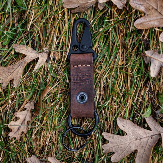 Personalized Leather Keychain. Custom Leather Keychain. Monogrammed Leather Keychain