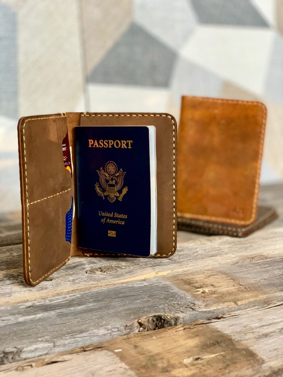 PASSPORT COVER, Leather Travel Wallet, Distressed Leather Passport Wallet, Passport Cover, Passport Case, Retirement Gift #TEXAS029