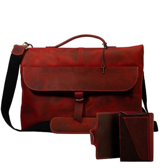 Lone Deer Leather Messenger Bag + Cardholder