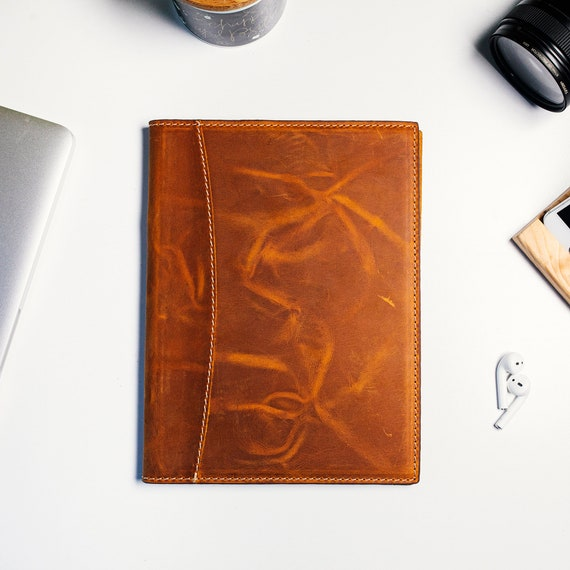 Personalised Leather Journal Case, Luxury Leather Notebook Case
