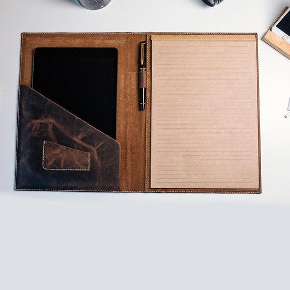 Personalized Leather Notebook Flap