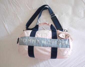 306dee018ca Vintage Tommy Hilfiger bag, duffel bag, shoulder bag, pink color (one size)