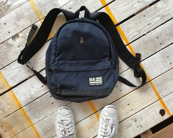 R.ATHLETIC JEANS CO.  Navy Blue Bag  Vintage Bag  90s. 105fd0779c414