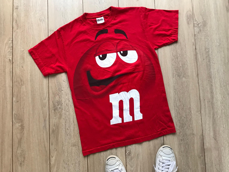 M/&M/'s Zip up Adult Big Face Fleece Hoddie Sweatshirt Red