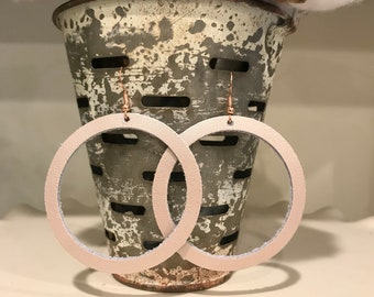 """JUNE earring of the month. The """"O"""" in rose gold."""