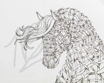 Dream Weaver Ribbon Horse Head