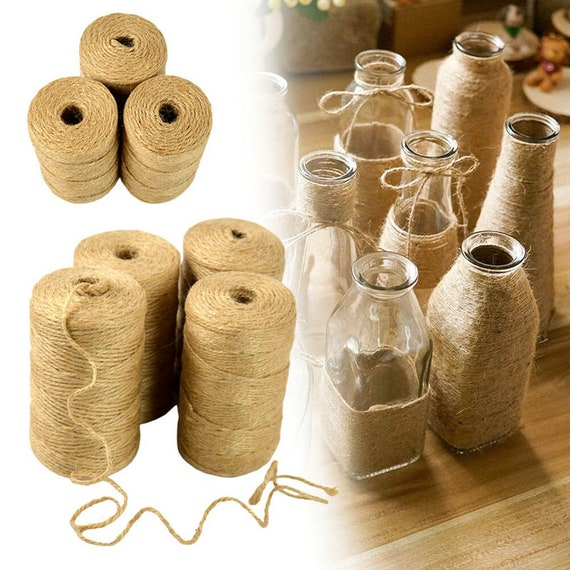 10m-50m Metre Natural Brown Shabby Style Rustic String Twine Shank Craft Jute!!