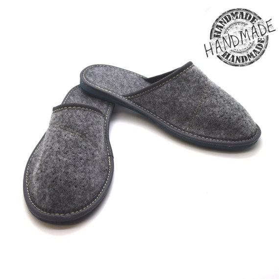 HAND-MADE Womens//Ladies Felt Slippers Size 3-8 Mules