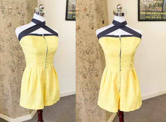 Vintage 1950s Romper by Carolyn Schnurer | Small |
