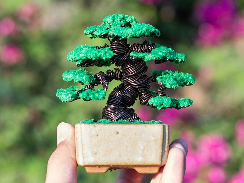 Peachy Black Wire And Green Leaves Bonsai Tree Japanese Black Etsy Wiring Digital Resources Jebrpcompassionincorg