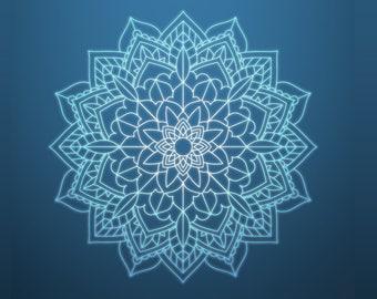 Mandala svg Zentangle svg Mandala Stencil DXF files for laser Pochoir Boho logo Print Wall Tote Bag Cricut Silhouette cut Sign