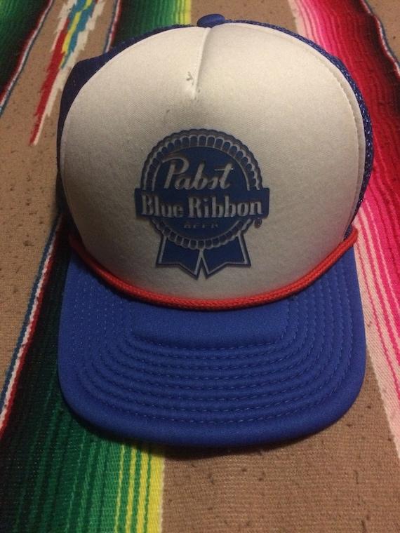 PBR Trucker Hat Pabst Blue Ribbon Beer Hat Cap  a51d9ed2d79