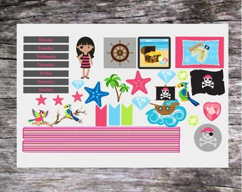 2 sets of Printed Planner Stickers