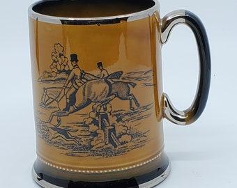 Arthur Wood  Hunting Days Horse Riding Tankard style beer Mug.