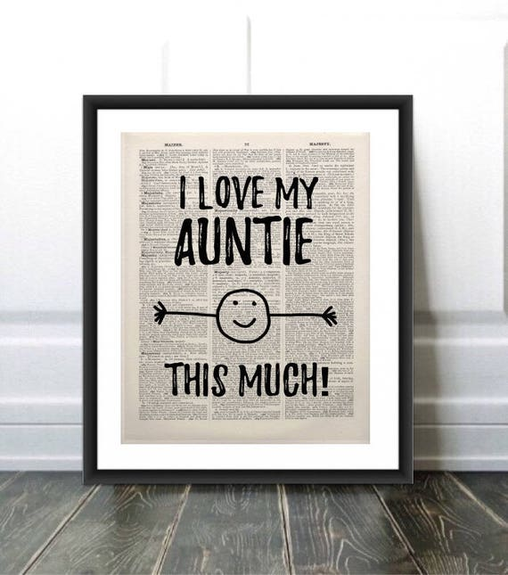 Funny Auntie Giftaunt Gift Printauntie Quotei Love My Etsy