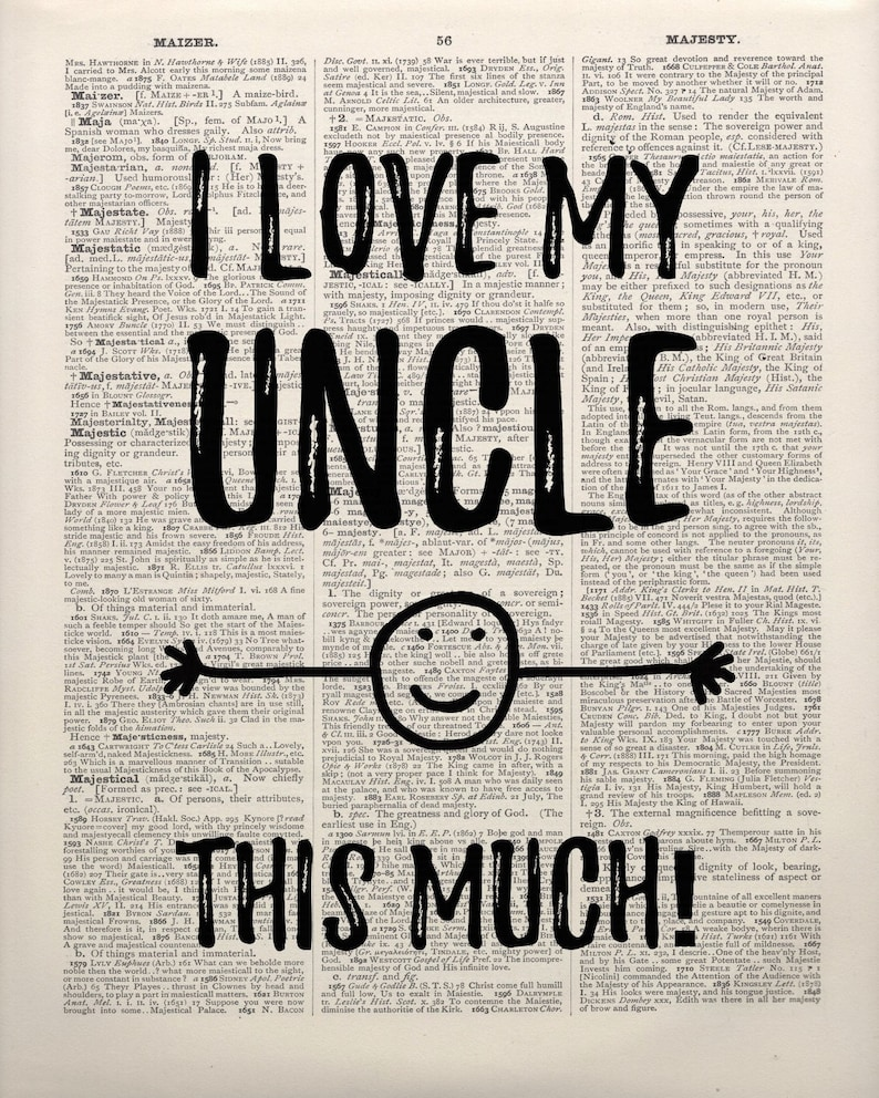 Oncle cadre photo-i heart amour-mon oncle 6 x 4 cadre photo-gravure gratuite