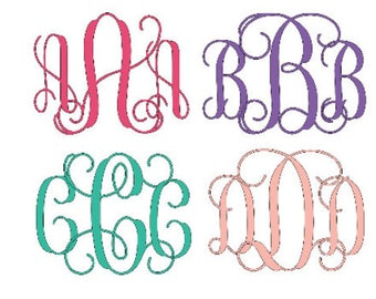 SVG Script Interlocking Monogram Font, SVG Script Cursive font, Monogram for SVG only instant download design