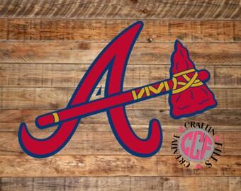Atlanta Braves Tomahawk, Atlanta Braves Tomahawk Logo, Atlanta Braves, Atlanta braves Tomahawk svg, Atlanta Braves Baseball, Braves Logo