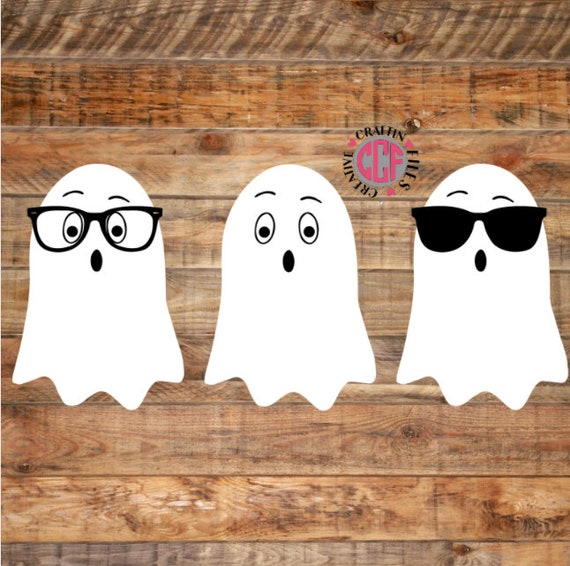 Ghost SVG Nerd Ghost Cool Ghost with Glasses Halloween