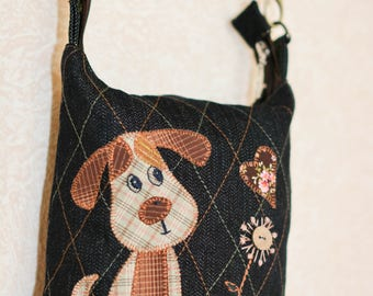 Shoulder bag with dog