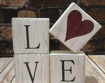 Love and XOXO Blocks