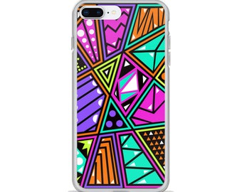 Abstract Geometric Pattern Phone Case, iPhone Case, Samsung Galaxy Case, Art Phone Case, Design Phone Case, Made to Order