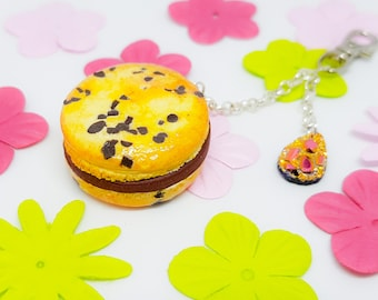Keychain or bag cookies chocolate macaroon polymer/Fimo [reserved]
