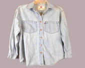 Vintage 80 39 s Levi 39 s for Woman Button Front Red Tab Pocket Denim Shirt