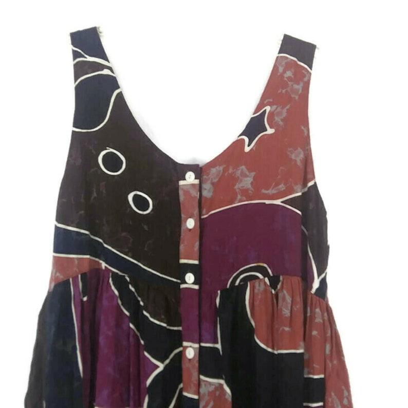 1980/'s A World Apart Print Pattern Button Front Midi Dress Women/'s Plus Size 2X