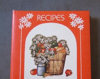 Vintage 1970's Recipe Holder