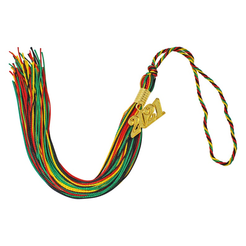 Class of 2021 Kente Colors Matching Graduation Cap Tassel