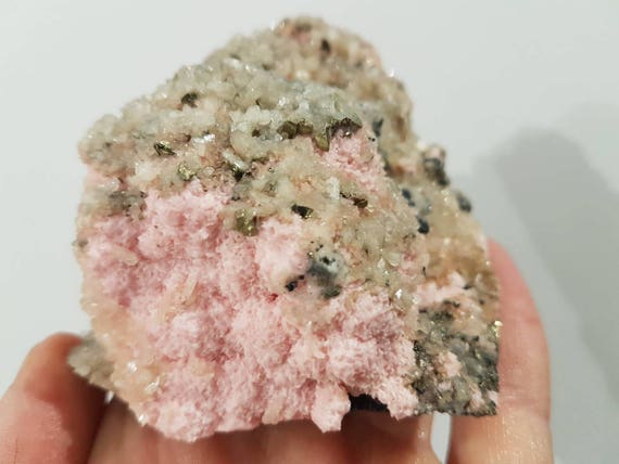 Rare Rhodochrosite rock Pink Crystal gift Pink Mineral gemstone N3796 Stone Lovely Rhodochrosite from Bulgaria Collection
