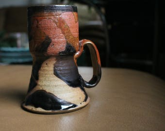 Abstract Salt Fired Cup