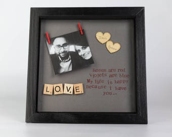 Personalised Roses are Red Love Frame