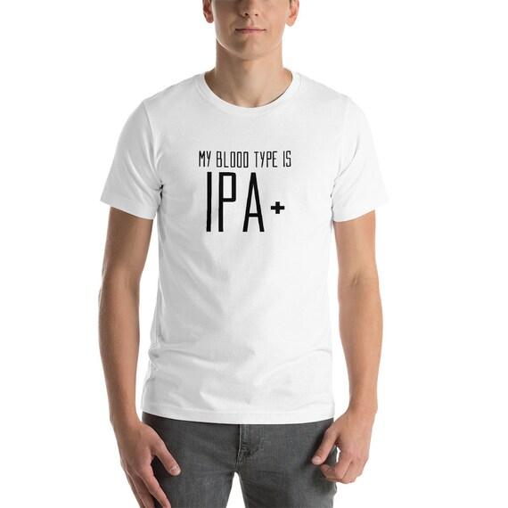 my blood type is ipa t shirt beer hops ipa plus tee funny etsy