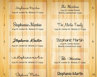 clear address labels etsy