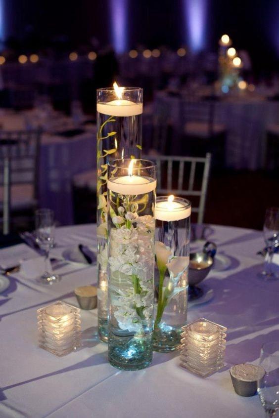 8 12 16 Cylinder Set Of 3 Glass Vase Etsy